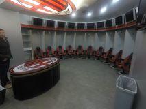 Ac Milan changing room royalty free stock photo