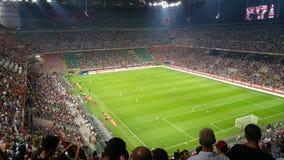 AC Milan contro Shkendija Immagini Stock Libere da Diritti