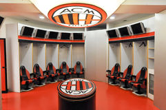 AC Milan dress-room Stock Photos