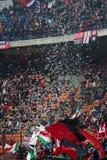 Ac Milan Supporter 2. A shot of Ac Milan Supporter San Siro stadium in Milan Italy stock photo