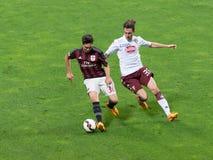 AC Milan vs Torino FC i 2015 Arkivbilder