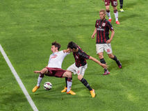 AC Milan vs Torino FC in 2015 Royalty Free Stock Photos