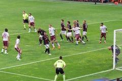 AC Milan vs Torino FC in 2015 Royalty Free Stock Images