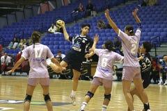 AC Ormi-Loux Patras - Maliye Mille Piyango SK. AC Ormi-Loux Patras (Greece) won 26 - 25 against Maliye Mille Piyango SK (Turkey) in EHF Women's Champions League Stock Image