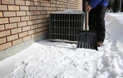 AC pod śniegiem obrazy stock