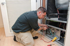 AC Repair Man Stock Image