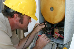 AC Repairman Closeup Royalty Free Stock Photos