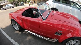 AC Shelby Cobra 427 tik-Bovenkant stock videobeelden