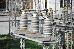 AC substation high voltage Stock Photography