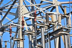 AC substation high voltage Royalty Free Stock Photography