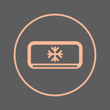 AC unit circular line icon. Air conditioner round colorful sign. Flat style vector symbol. Stock Photography