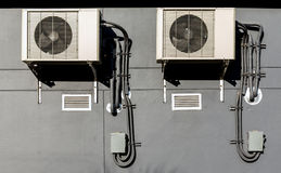 AC units connected Stock Photos