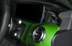 AC wentylaci pokład w Luksusowym nowożytnym Samochodowym wnętrzu Nowożytny samochodowy inAC wentylaci pokład w Luksusowym nowożyt Fotografia Royalty Free