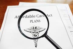 ACA-Pläne Lizenzfreies Stockfoto