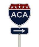 ACA-Zeichen Lizenzfreie Stockbilder