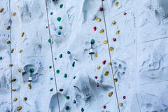 Acabamiento Belces en la pared de la escalada Fotos de archivo libres de regalías