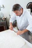 Acabamiento comestible del papel de arroz para la especialidad dulce francesa del turrón Imagen de archivo libre de regalías