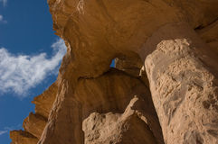 acacus bluesky pustynna libia skała Zdjęcia Royalty Free