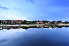Académie chinoise de crépuscule d'université de huaqiao Image libre de droits