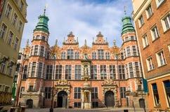 Académie de grand arsenal de beaux-arts avec la façade stupéfiante, Danzig, P image libre de droits