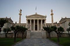 Académie nationale d'Athènes, de bâtiment historique avec des colonnes et photos stock