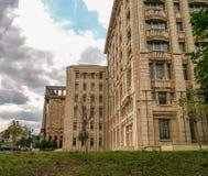 Académie roumaine de vue, nouveau bâtiment moderne Image stock