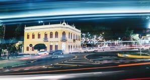 Acade av Morada DOS Bais på natten, stora Campo - ms, Brasilien royaltyfria foton