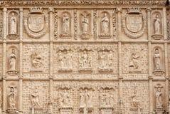 Acade zur Saint Paul-Kirche, Valladolid, Spanien Stockbilder