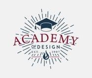 Academia de diseño ilustración del vector