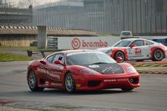 Academia 2016 de Ferrari 360 Módena Merzario en Monza Imagen de archivo libre de regalías