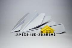 Academia de la aviación Fotos de archivo libres de regalías