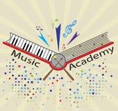 Academia de música ilustração royalty free