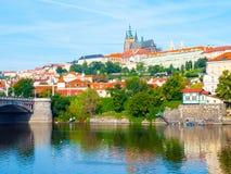 Academia de Straka, el asiento del gobierno de la República Checa, Praga Imagen de archivo libre de regalías