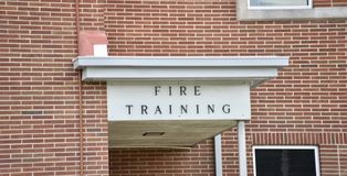 Academia do treinamento de Firefigter fotografia de stock royalty free