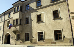 Academia Istropolitana in Bratislava, Slowakije stock afbeelding