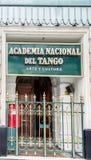 Academia Nacional Del Tango Buenos Aires Stockfoto