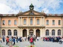 Academia y museo Nobel en Estocolmo Imágenes de archivo libres de regalías