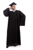 Academic. Education background: serious man in a academic gown Royalty Free Stock Photos