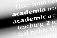 Academic. Word in a dictionary.  concept Royalty Free Stock Image