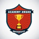 Academic award design. Illustration eps10 graphic Royalty Free Stock Photo