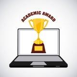 Academic award design. Illustration eps10 graphic Royalty Free Stock Photography