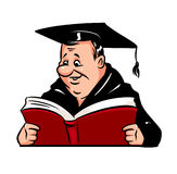 Academic Bachelor cartoon Stock Image
