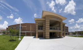 Academic Building at High School in Florida. With Architectural Detail Royalty Free Stock Photography