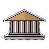 Academic building icon. Over white background.  illustration Royalty Free Stock Photo