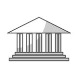 Academic building icon. Over white background. vector illustration Stock Images