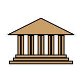 Academic building icon. Over white background. vector illustration Stock Photos