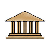 Academic building icon. Over white background. vector illustration Royalty Free Stock Photography