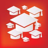 Academic cap icon. Study cap symbol Royalty Free Stock Photo