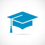Academic cap vector icon Royalty Free Stock Images