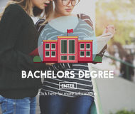 Academic College Bachelor Degree Admission Concept Royalty Free Stock Photography